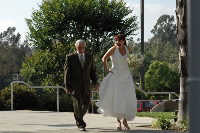 And the bride arrives with Uncle Bob.