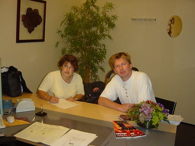 Signing of the wedding contract on June 24, 2003