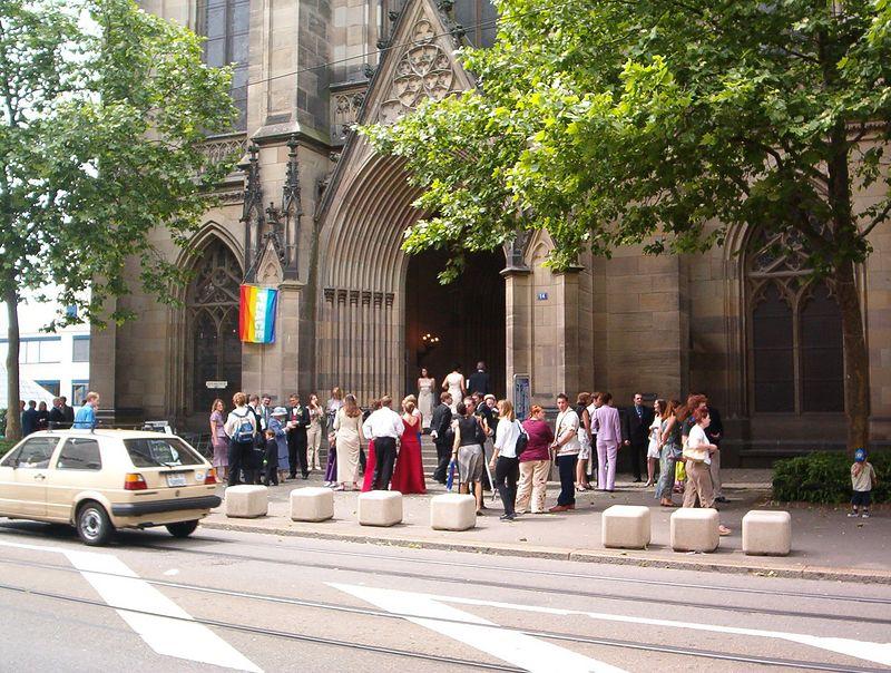 Outside Church Before