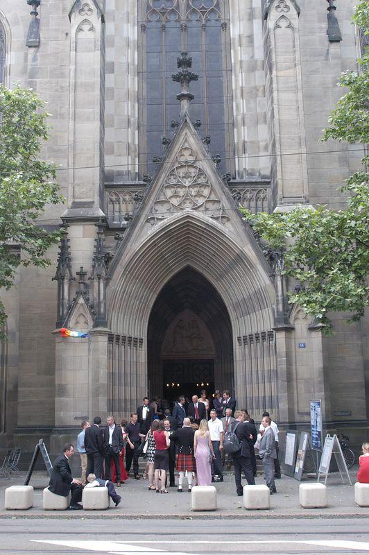 Gathering Outside Church