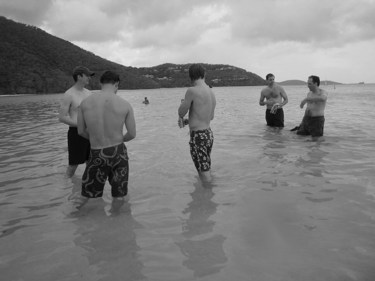 in the water at Cinnamon Bay
