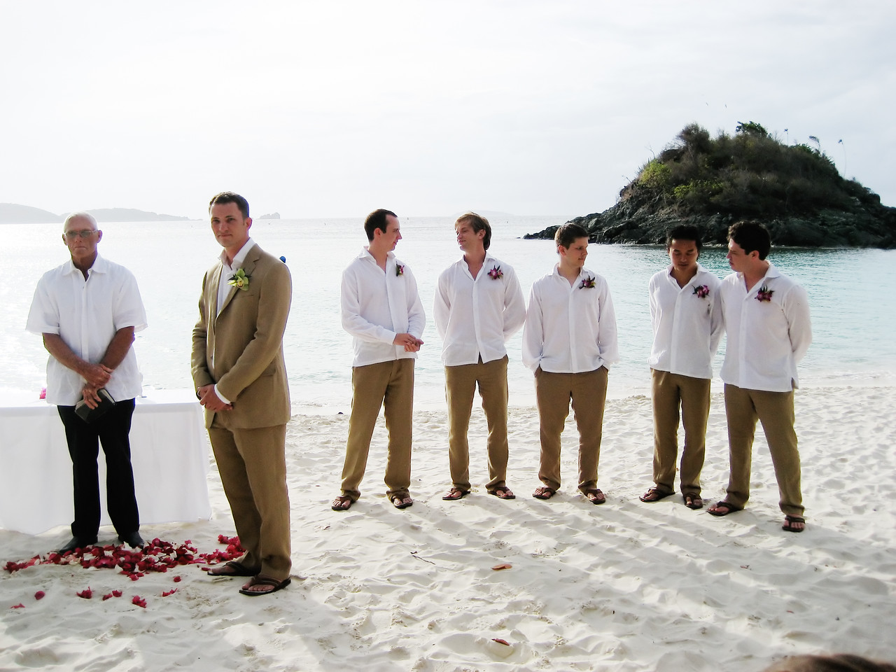 groomsmen in conversation