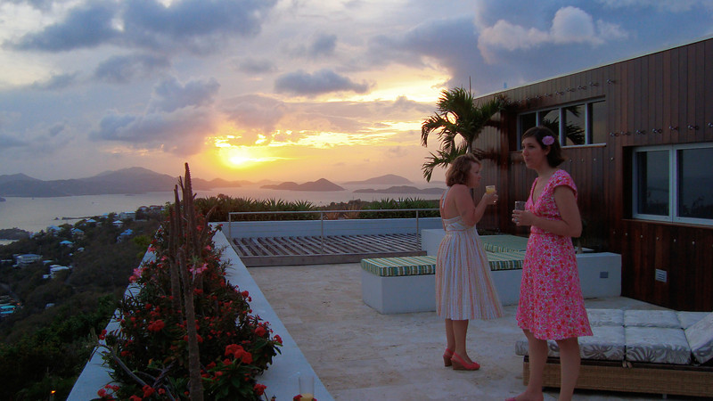 sunset as the reception starts