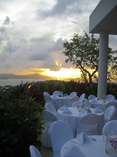 sunset for the wedding