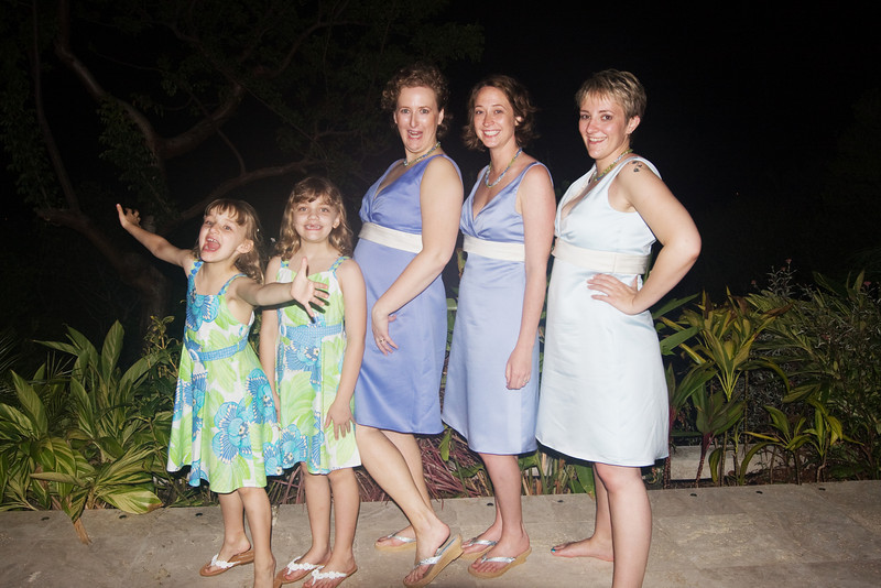 the fine women of the bridal party