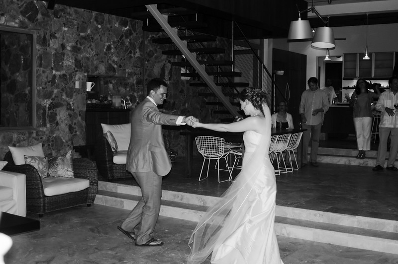 the first dance in B&W