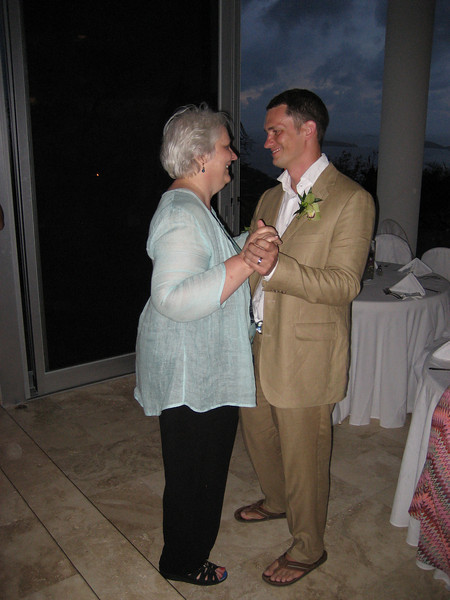 mother and son dance at Kalorama