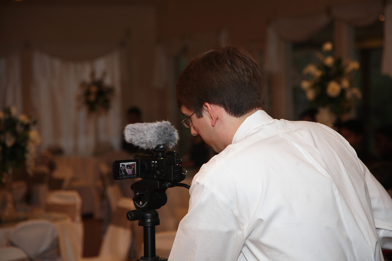 This is our friend Mark, who kindly agreed to video our wedding.