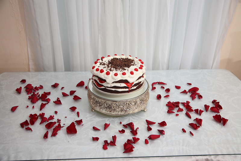This is a Black Forest cake somewhat like the one featured in Portal.