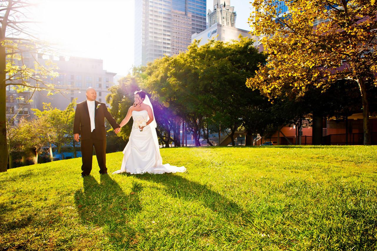 Weddings next to Omni hotel in Los Angeles