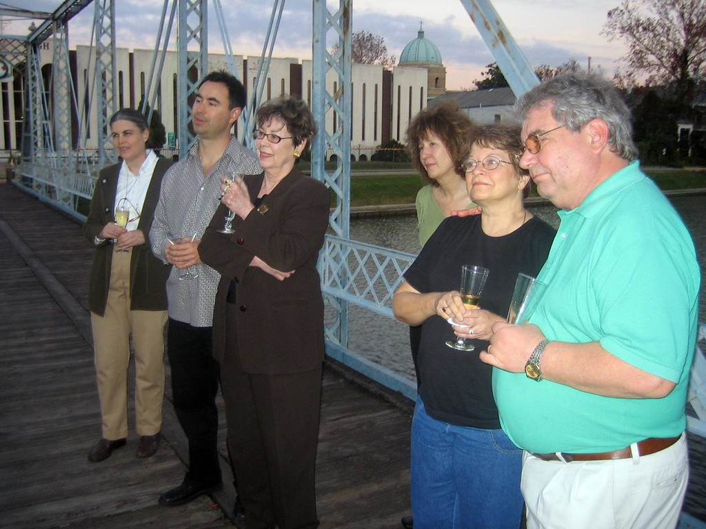 From left to right:<br /> Maria L.,  David M.,  Jackie M.,  Diane P,  Deanna, CE.<br /> Matt is taking the photo.   And Otis was  able to show up later for dinner.