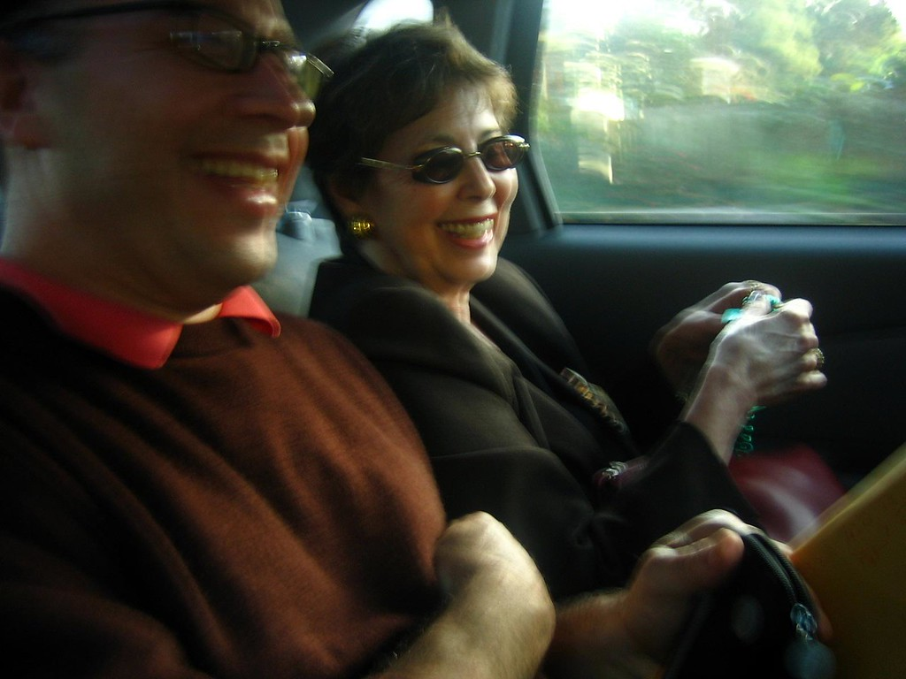 David and Jackie laugh at the many, many years David spent as New Orleans' most eligible bachelor.