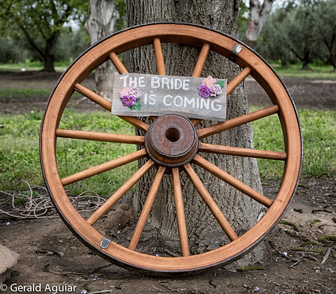 Wagon wheel refinished by Vince Cleek.  It was used by the Cleek family generations ago when they made their way west via covered wagon.