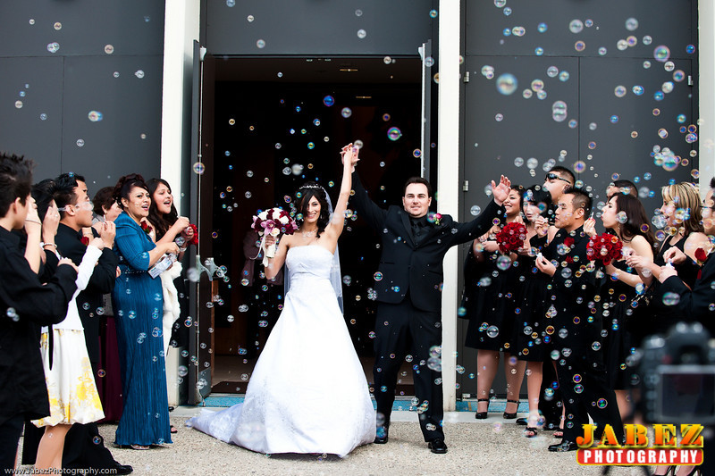 Fun wedding bubbles