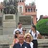 La familia Carrasco visiting Casco Antiguo de Panama: (from front to back) Papa, Mama, sisters Loreto, Pilar y Luisa & Jose (Loreto's husband).