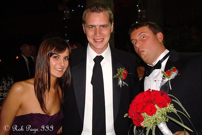 Whitney, Rob, and Cliff at Cliff's wedding - Medellin, Colombia ... October 22, 2011 ... Photo by Emily Page
