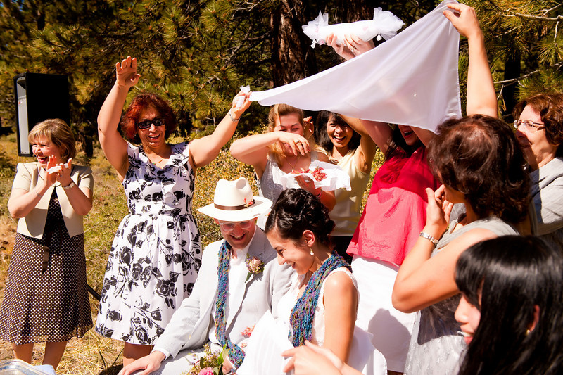 Nature and beautiful outdoor Persian wedding ceremony.