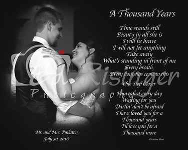 First Dance- Words-BW