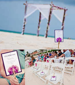 Wedding fans by Palm Leaf Invitations http://www.etsy.com/shop/palmleafinvitations