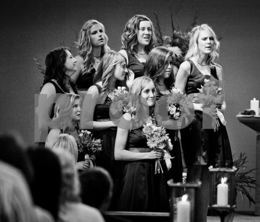 Just about every bridesmaid is crying here.  Classic.