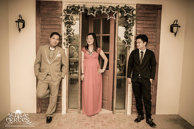 Groom shot with Brother and his Sister Beverly