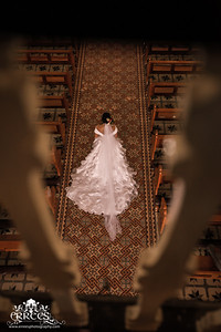Bride during Wedding March in the Aisle.