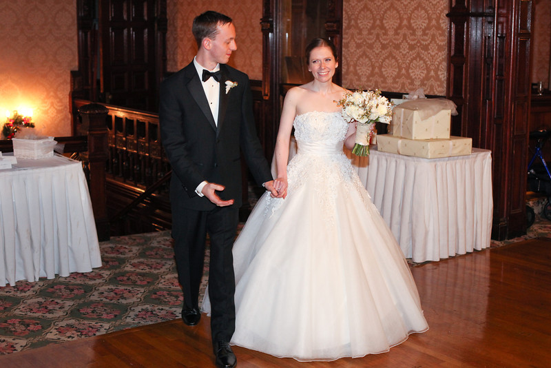Susan Francis and Travis Robinson get married at the White Cliffs mansion in Northborough, Mass, on Saturday, December 3, 2011.