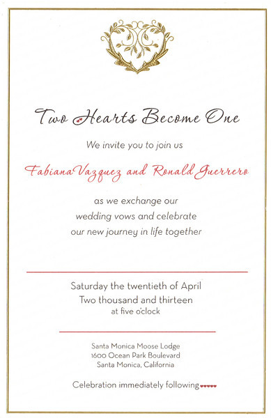 RON & FABBY'S WEDDING @ SANTA MONICA MOOSE • 04.20.13