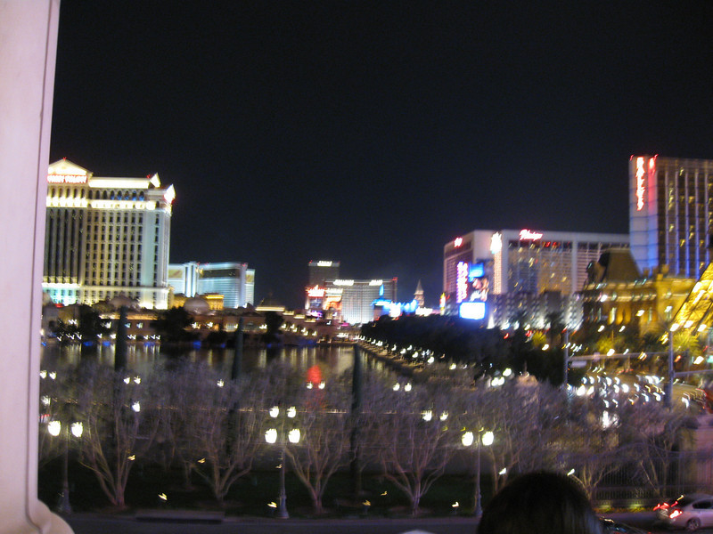 Bellagio Fountains and Los Vegas BLVD North