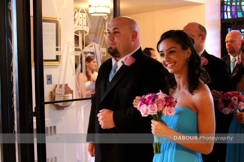 Ashley & Matt Rasley Wedding ceremony photos. © 2013 Dabour Photography