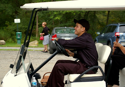 Ben was the limo golf cart's designated chauffeur.