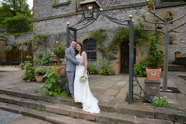 Rebekah and David Wedding Hassop Hall Derbyshire
