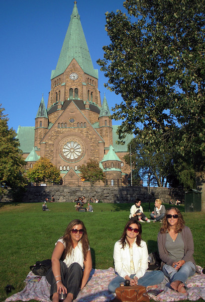 Relaxing with the locals at the Sofia kyrka in Södermalm, Stockholm
