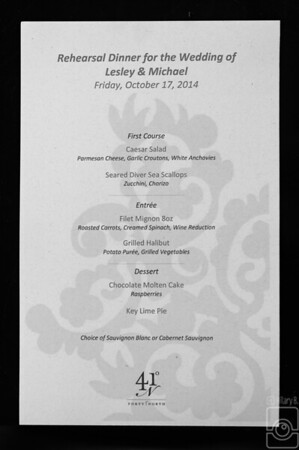 McClellan Rehearsal Dinner Oct 2014