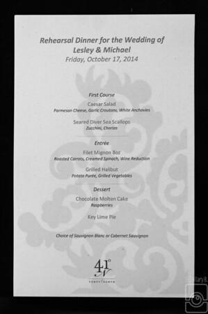 McClellan Rehearsal Dinner Oct 2014
