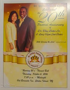 Rev. Dr. Tony Baker's 20th Pastorial Anniversary