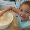 Emma testing the frosting!!