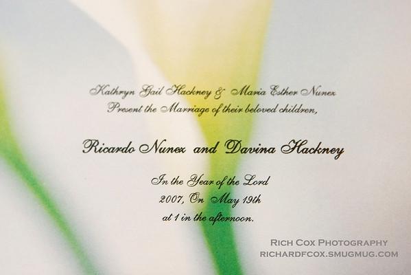 Rick & Davina's Wedding - May 19, 2007