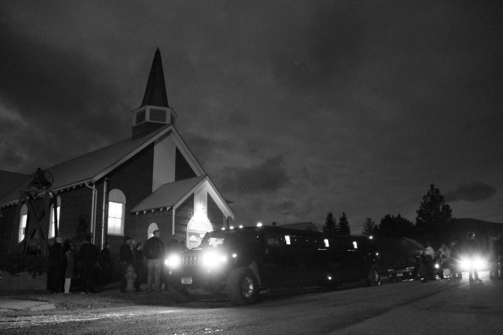 church  black and white