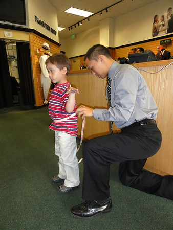 Riley's Tux Fitting for Elyse & Nathan's Wedding