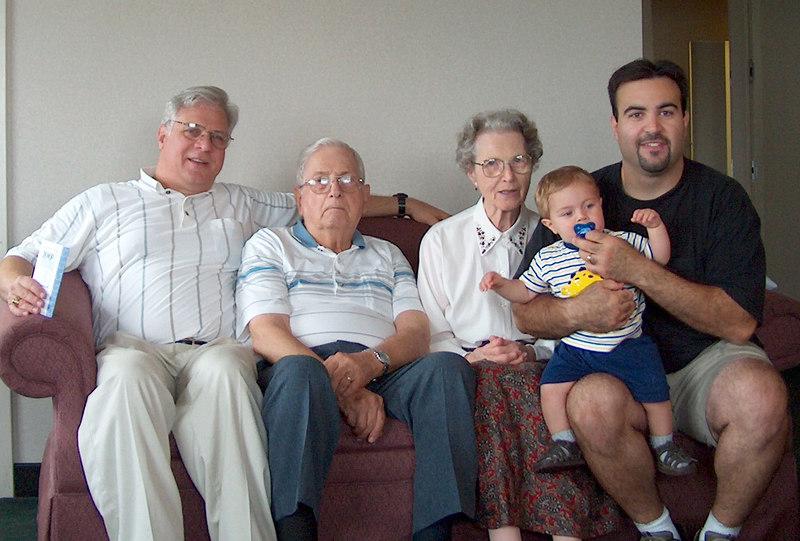 Four Generations<br /> Bill, Sam, Betty, Cody, Sean