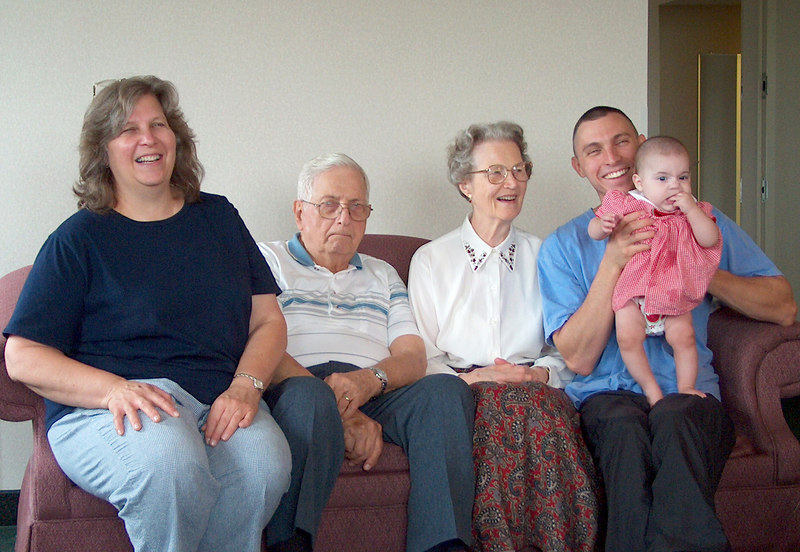 Four Generations<br /> Mary Anne, Sam, Betty, Erich, Olivia
