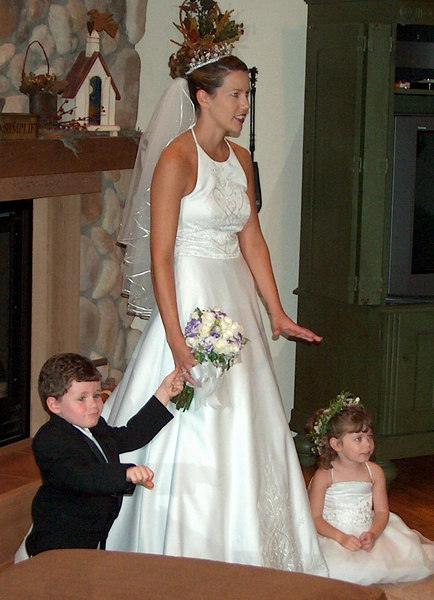 The Bride with Helpers