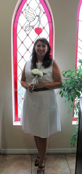 The beautiful bride.