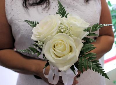 The brides beautiful bouquet.