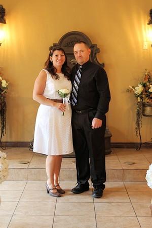 Robert & Claudia before the wedding.