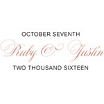 Ruby and Justin Logo