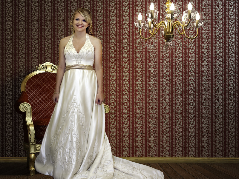Bride in Red Room