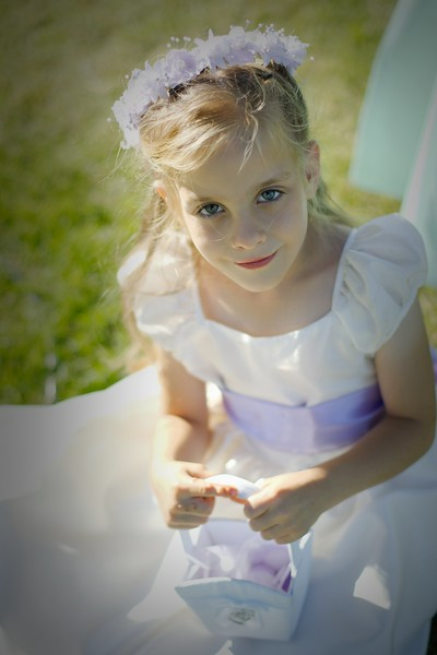 sweet shot of our one of the flower girls