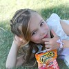 Even flower Girls need to take a cheetos Break once in awhile